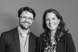 Jens van den Brink en Georgina Nühn