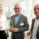 Roos Dutilh (Nederlandse Loterij), Wilko Tijsse Claasse (Port of Amsterdam) en Mike Staring (InsingerGilissen)