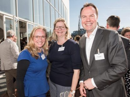 Arlette Hofstad (Eriks), Daphne van Oppenraaij (Suez Recycling & Recovery) en Bart van Kempen (Eriks)