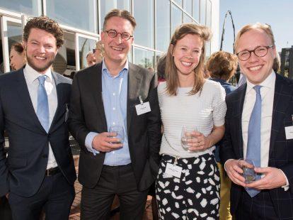 Maurits de Haan, Philippe König en Guillette van Grinsven (allen Houthoff) en Joost den Hollander (Heineken)
