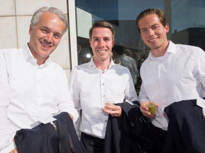 Hanno Dubbeldam (BAM), Bastiaan Hendrik en Pieter Smit (beiden Rabobank)