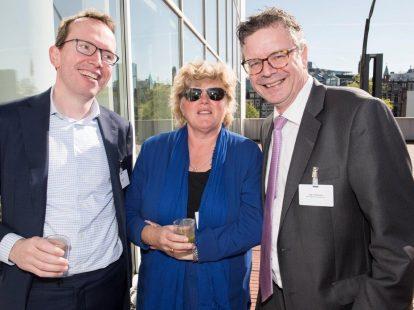 Caïus Ort (Lely), Jacobien Viets (Liance Legal) en Jean Schreurs (NXP Semiconductors)