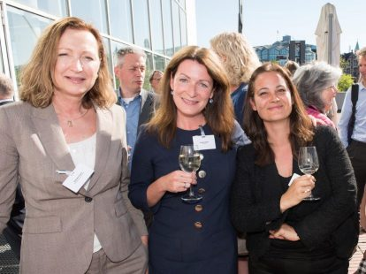 Nathalie Peters (Efes Breweries), Kirsten Berger (Houthoff) en Femke Wolffensperger (Air Liquide)