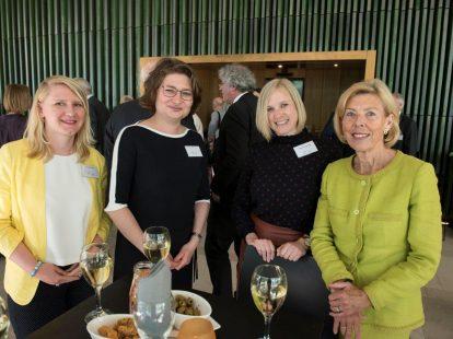 Clara Olde Heuvel (Grothe & Lippok), Masha Fedorova (RUN) Jannemieke Ouwerkerk (Universiteit Leiden) en Matty Bijleveld (oud-raadsheer hof Den Bosch)