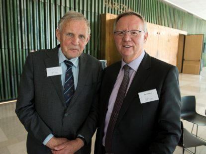 Paul de Jonge (Legal Bench Market) en Marc Taeymans (Vlaamse Juristenvereniging)