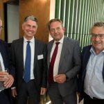 Gerard Roes (Raad van State), Takvor Avedissian (Centrale Raad van Beroep), Reinier van Zutphen (Nationale ombudsman) en John Olivier (Leidsch Juridisch Genootschap)
