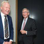 Bert Niemeijer (rector Academie voor Overheidsjuristen) en Jan Tom Bos (oud-directeur Wetgeving ministerie van Justitie en Veiligheid)