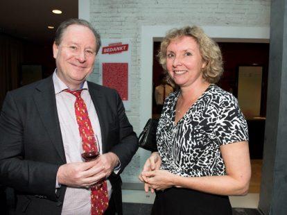 Leo Vester (ministerie van J&V) en Monique Wesselink (Academie)