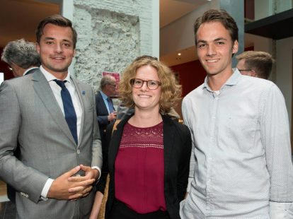 Hans Balfoort (IND), Fieke van Kuijk (juridisch adviseur/onderzoeker Tweede Kamer) en Bastiaan Loopstra (IND)