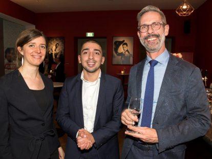 Freeke Gerritsen (KNMI), Vedat Apaydin (ministerie van Infrastructuur en Waterstaat) en Nico Florijn (Academie)