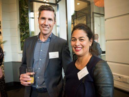 Edwin Fillekes (FD Mediagroep) en Marsja Wierenga (Van Odijk Advocaten)