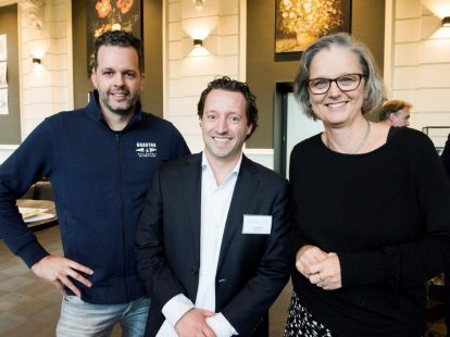 Michiel Krijger (Advocatenkantoor Zeeland), Johan Birkhoff (Legal Sense) en Marja van der Hulst (Van der Feltz)