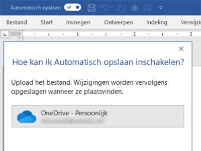 Automatisch opslaan versus AutoSave