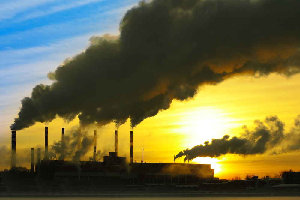 Uitstoot/rook van een fabriek?