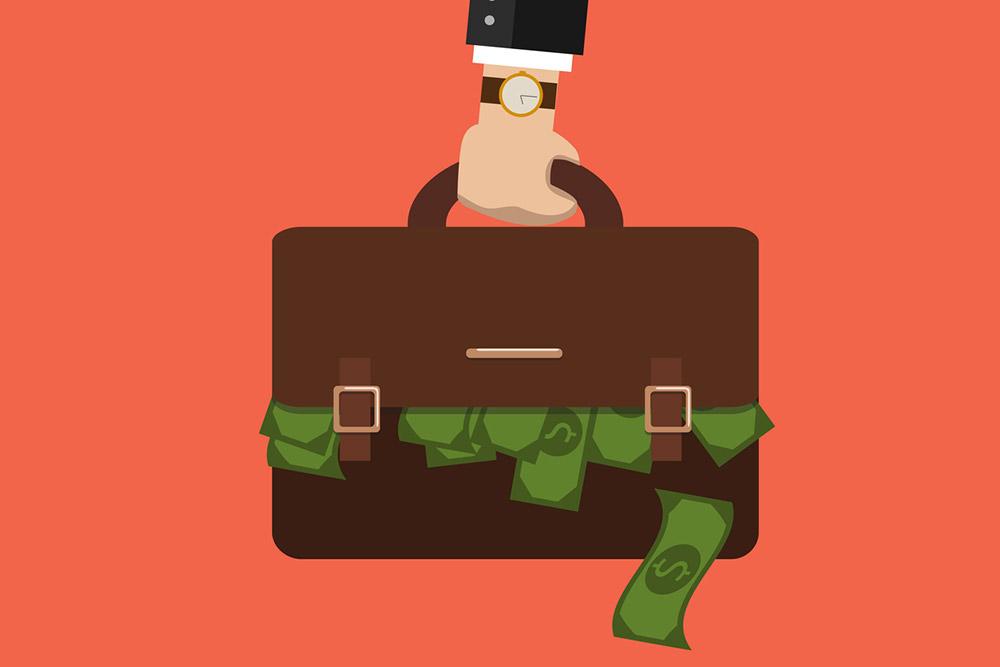 Advocaten en koffers vol cash