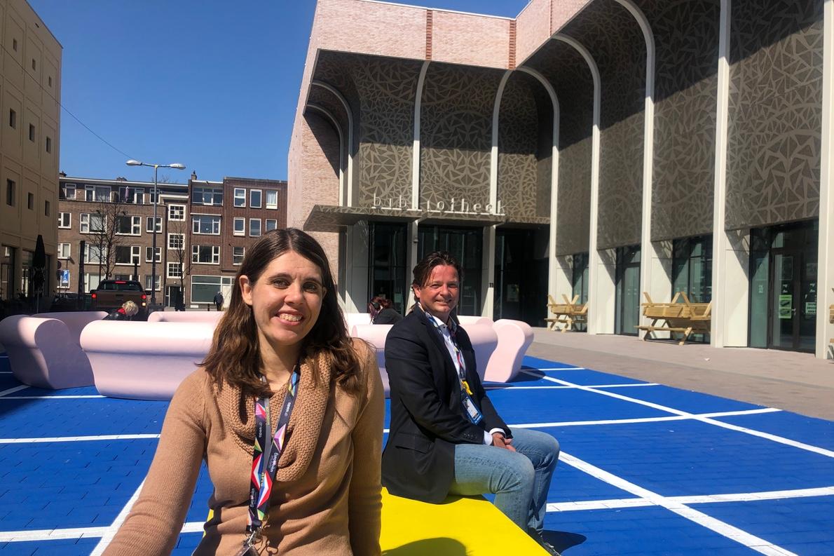 Desiré van der Wilt (Ahoy) en Bart van Ulden (gemeente Rotterdam)