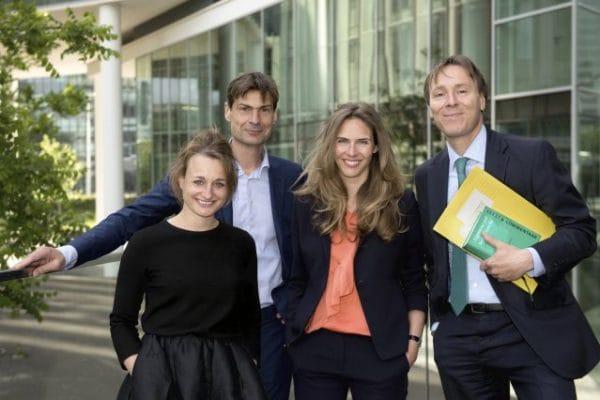 V.l.n.r.: Muriël Rosing, Rein Wesseling, Anna Collignon en Tom Barkhuysen, Stibbe