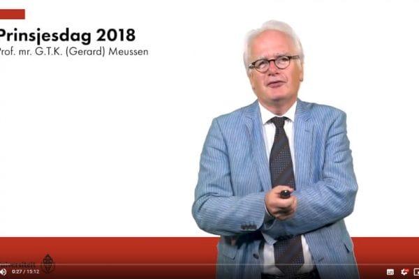 181001 Actualiteitenclip met Gerard Meussen over Prinsjesdag 2018