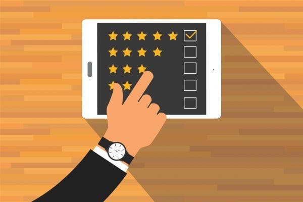 give feedback rating