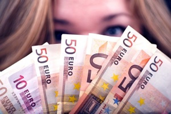 Woman with Euros