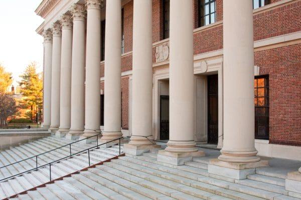 Harvard Library Entrance Columns Doors