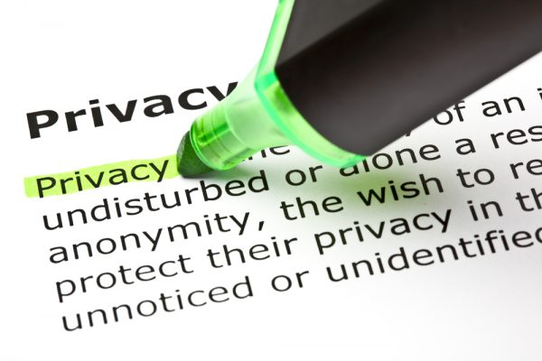 'Privacy' highlighted in green
