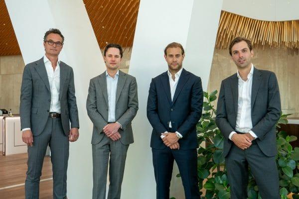 Van links naar rechts: Hendrik Jan Schimmel, Fabian Stevens, David Weinstein, Adriaan Quist