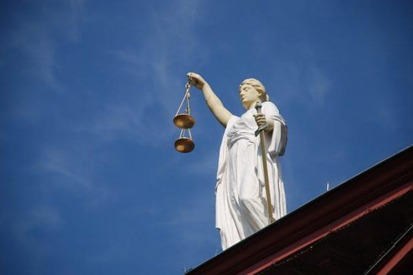 Beeld bij rechtbank Vught