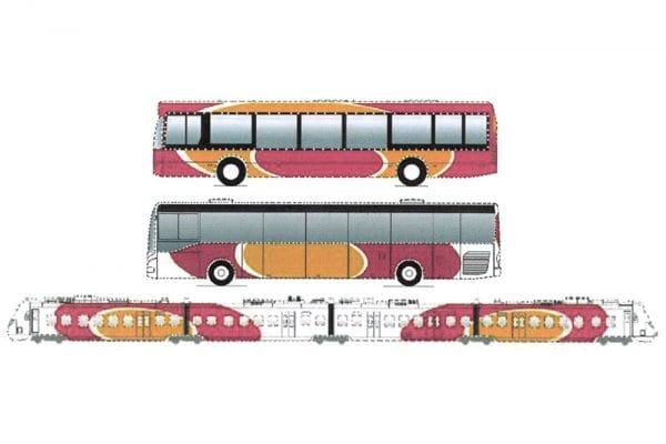 Beschildering van bus en trein kan ook een merk zijn