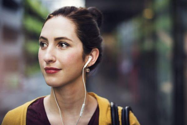 Audio Casual Activity Earphones Happiness Music Concept