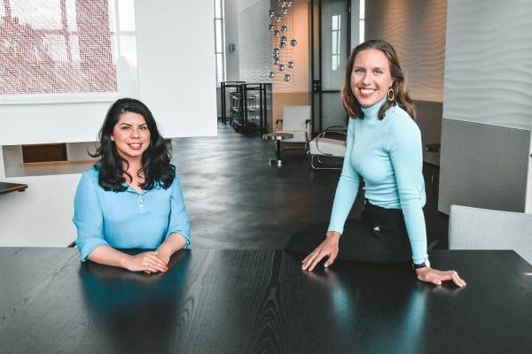 (links: Maya Visser, rechts: Esmee Put. Foto: Dominique van Dreven)