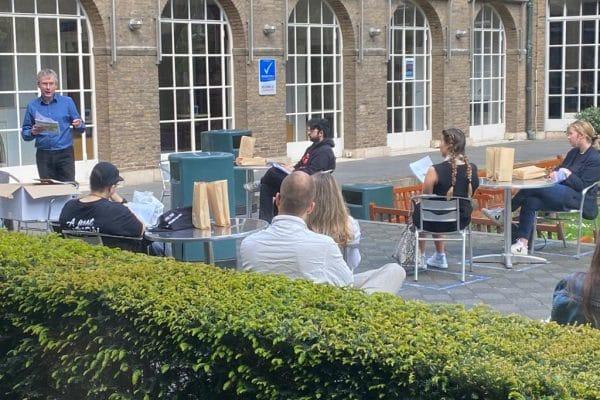 Jan Smits tijdens het Law Open Air Festival