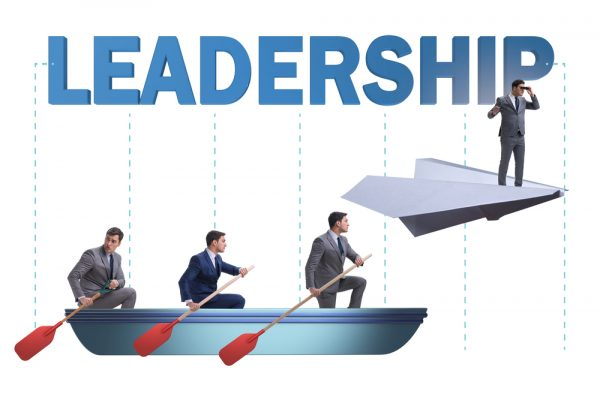 Leadership concept with various business people