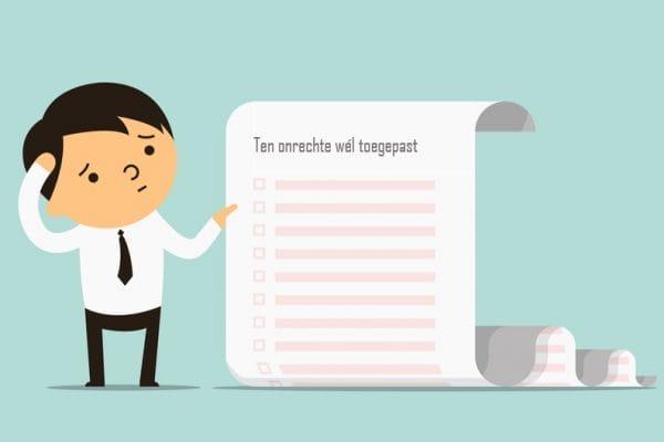 Lijst van wetten waaraan de Belastingdienst zich niet had moeten houden - Mr. Online