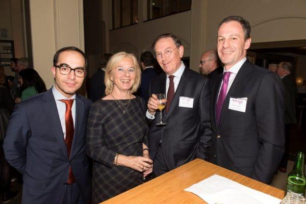 Fatik Ibili (Hof Den Haag/Rijksuniversiteit Groningen), José Vlas, dagvoorzitter Paul Vlas (Hoge Raad/Vrije Universiteit) en Marek Zilinsky (Houthoff/VU)