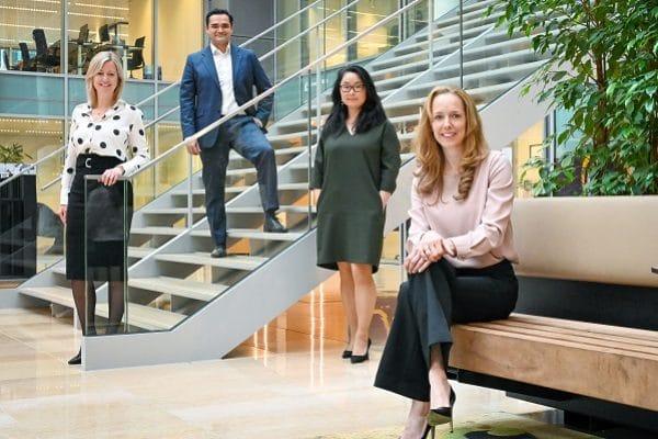 V.l.n.r.: Marleen Wessel (counsel), Menno Baks (counsel),  Bo Ra Hoebeke (counsel) en Mariken van Esch (partner)