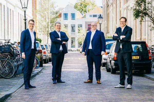 Van links naar rechts Luc Coehorst, Jeroen Elslo, Danny Hooreman, Rien Braakman