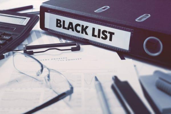 Zwarte lijst van zorgverleners op zwart