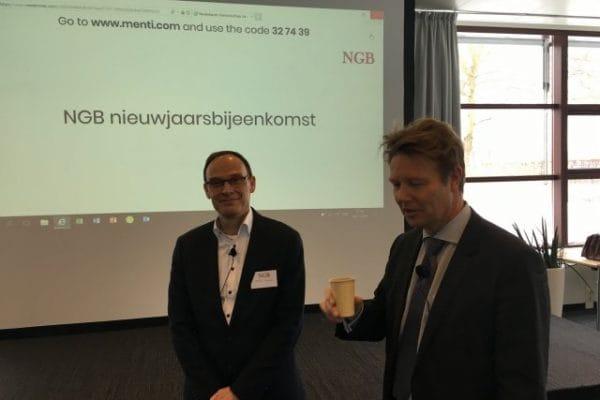 Arnold Brakel (l) en Ton Hartlief (r), net voor het begin van het seminar