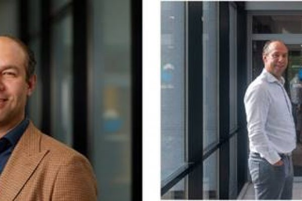 Links: Jeroen Kruithof, CEO Virtual Vaults. Rechts: Jeroen Kruithof met Mike Hichliffe, CRO Virtual Vaults UK